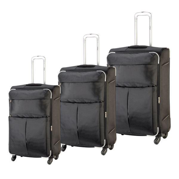 תמונה של סט מזוודות 4 גלגלים מדריד 4214 שחור