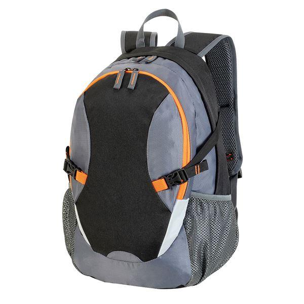 حقيبة ظهر TLV 7688 أسود/رمادي داكن/برتقالي