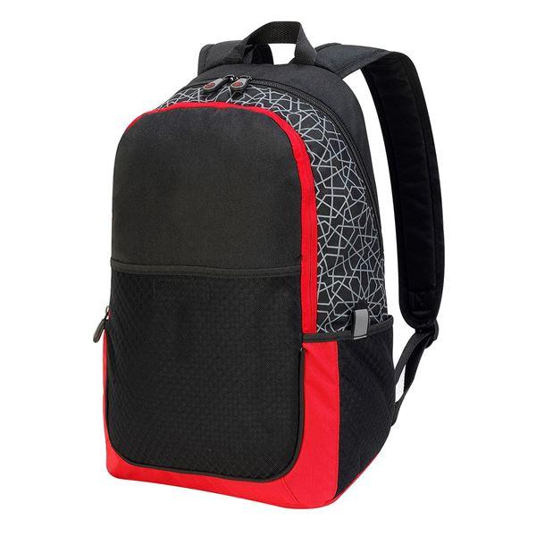 حقيبة ظهر بوخارست 7689 أسود/أحمر