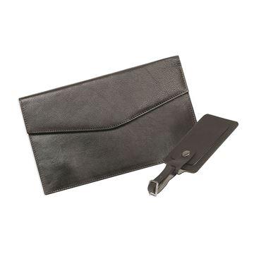 Изображение  17.816.141 Кожаный дорожный бумажник с багажной биркой