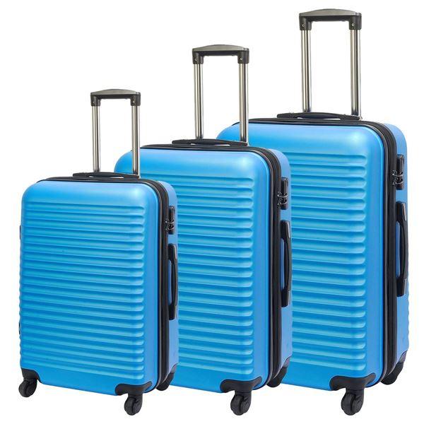 תמונה של סט מזוודות תל אביב 2360-72 טורקיז