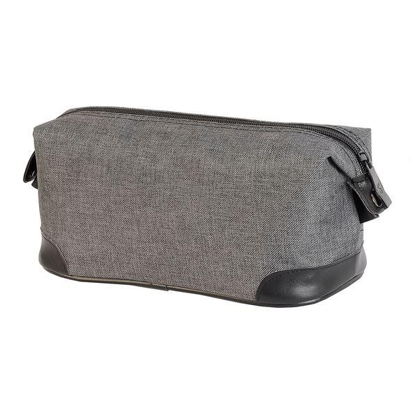 حقيبة لأدوات الزينة ماكاو 4485 ميلانج فحمي رمادي