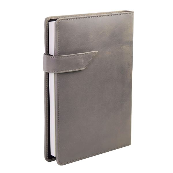 16.731.835 A5 LEATHER NOTEBOOK Gray