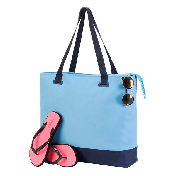 Изображение 4133 Спортивная сумка Бурмус Светло-Синий/ Тёмно Синий