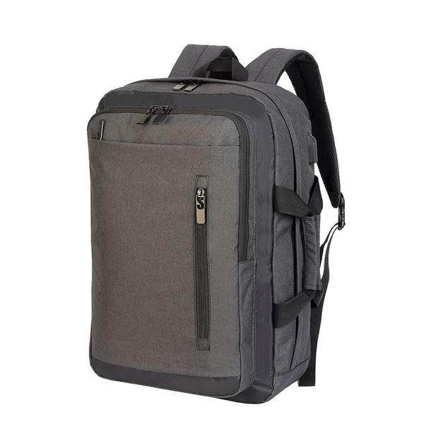 """حقيبة الظهر للكمبيوتر المحمول """"بوردو"""" 5819 ميلانج فحمي/ أسود"""