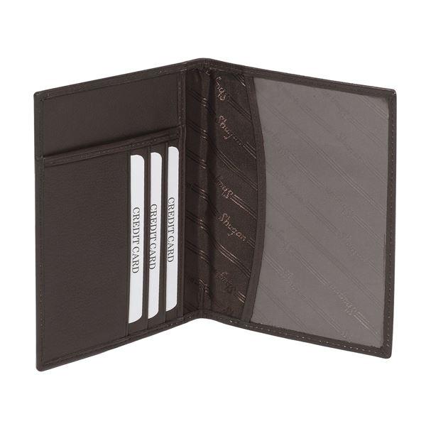 17.808.341  ماسك من الجلد مخصص لجواز السفر من من الجلد الطبيعي المتبوغ  NAPPA بني داكن