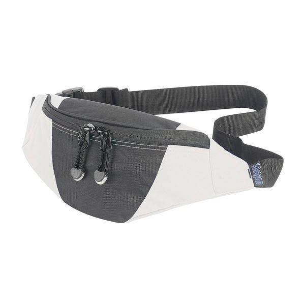 حقيبة خصر حفيا 1003 أسود/ أبيض مائل للصفرة