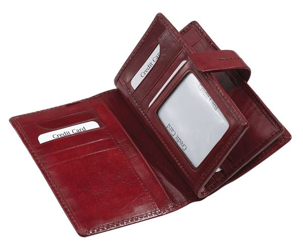 Изображение 14.510.730 Кожаный дамский кошелёк Красный
