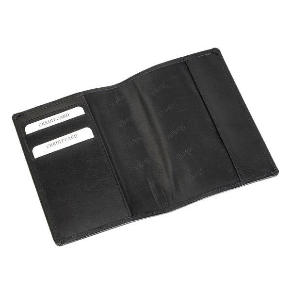 Изображение 17.820.510 Кожаная обложка для паспорта черный
