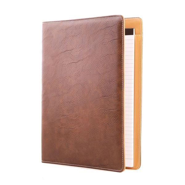 مجلد من الجلد مقاس A4 من جلد مصنوع من بولي يوريثان  10.125.941   بني