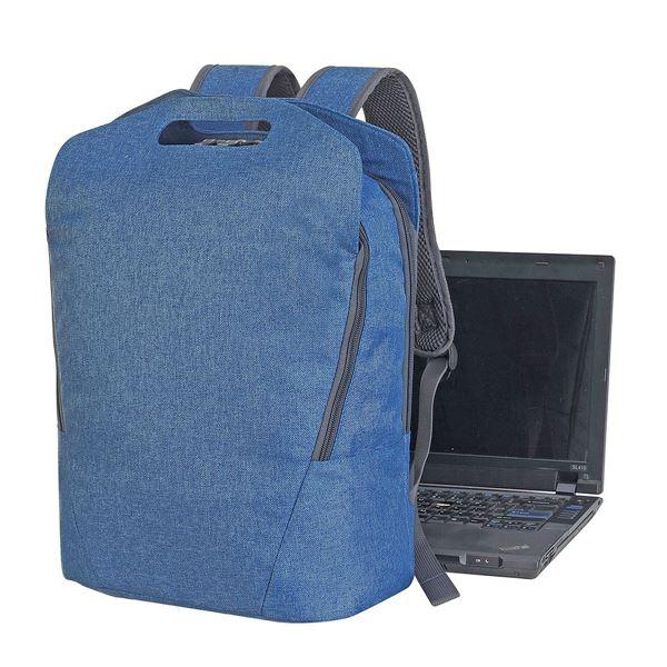 תמונה של תיק גב למחשב זלצבורג 5808 כחול דנים מלאנג'