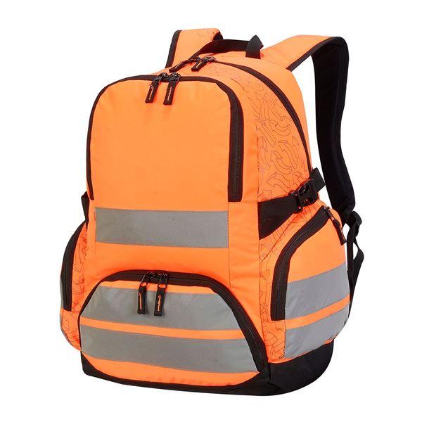 LONDON PRO HI-VIS BACKPACK 7702  برتقالي شديد الرؤية