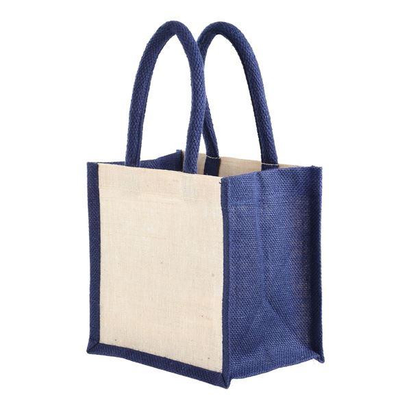 Изображение Маленькая подарочная сумочка Джайпур  1102 Натуральный/Тёмно Синий