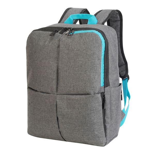 حقيبة للحاس  وب النقّال – هانوڤير 5822 ميلانج فحمي رمادي/ فيروزي