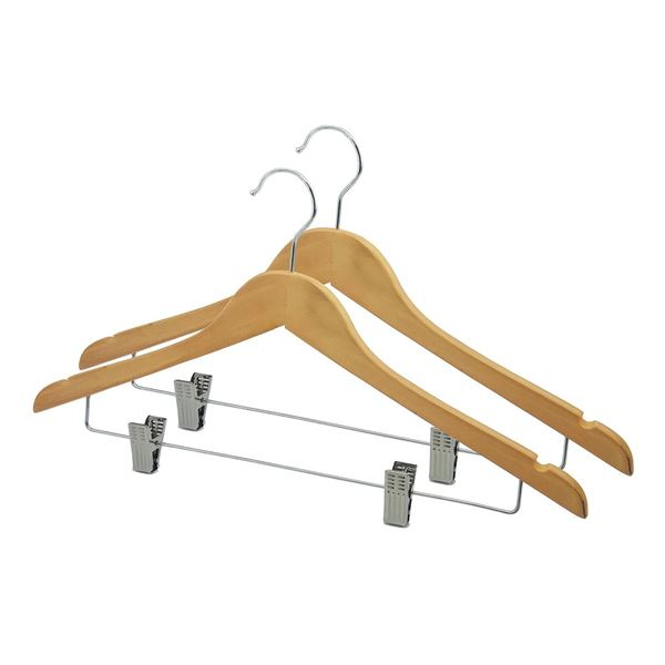 Изображение 86-200 HANGER WITH METAL CLIPS Wood