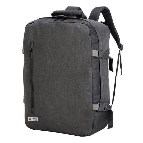 Изображение 7720 Мягкий чемодан для посадки в самолёт Триест Charcoal Melange/ Black