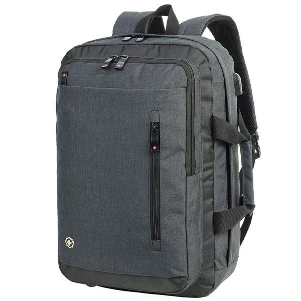 Изображение Рюкзак для Ноутбука  БОРДО 5819 Charcoal Melange SWISS PLANET