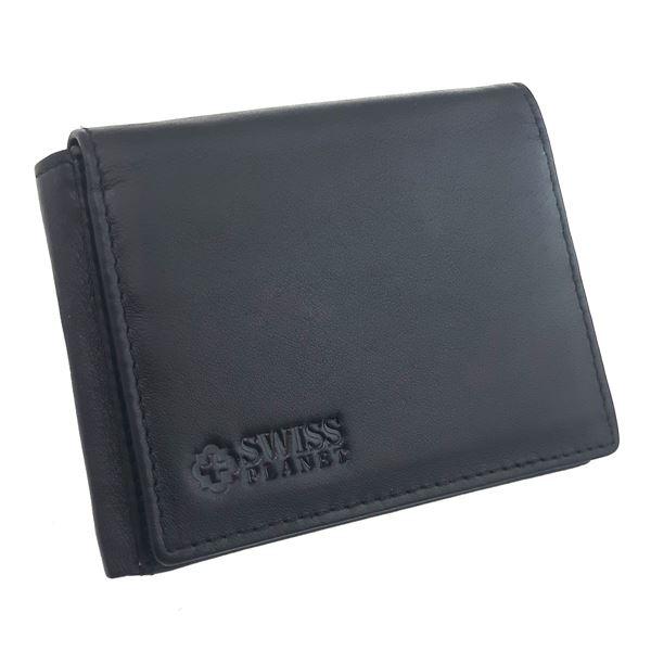 תמונה של ארנק עור לגבר 41.13.419 SWISS PLANET שחור