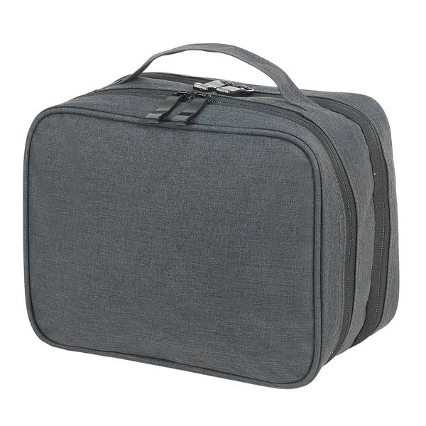 4478 SEVILLE ACCESSORIES AND TOILETRY POUCH Charcoal Mélange
