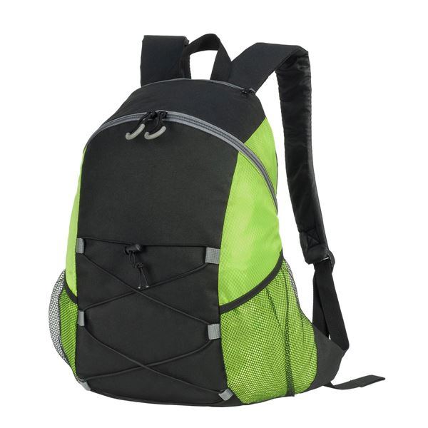 7237 CHESTER BACKPACK Black/ Lime Green