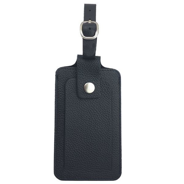 41.17.810.310 SUITCASE LEATHER NAME TAG Black