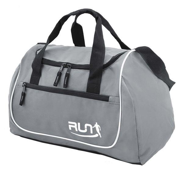 RUN SPORTS BAG 88-1580 Grey-Black