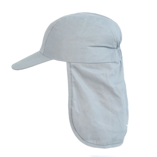 תמונה של כובע מצחיה עם מגן עורף 9430 אפור בהיר