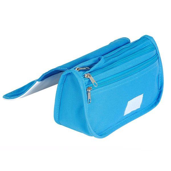 3034 PENCIL CASE Turquoise/ White